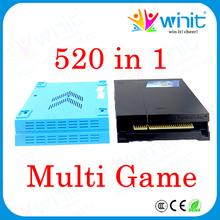 Шкатулка пандора 3 джамма мульти настольная игра 520 в 1 Pcb DIY казино аркады 2 mp3-плеер мультигейм карты CGA и VGA выход для аркада кабинет