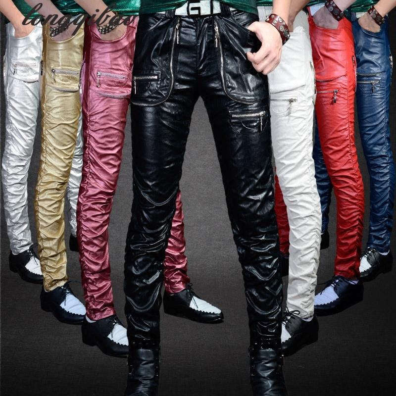 Кожаные мужские брюки доставка