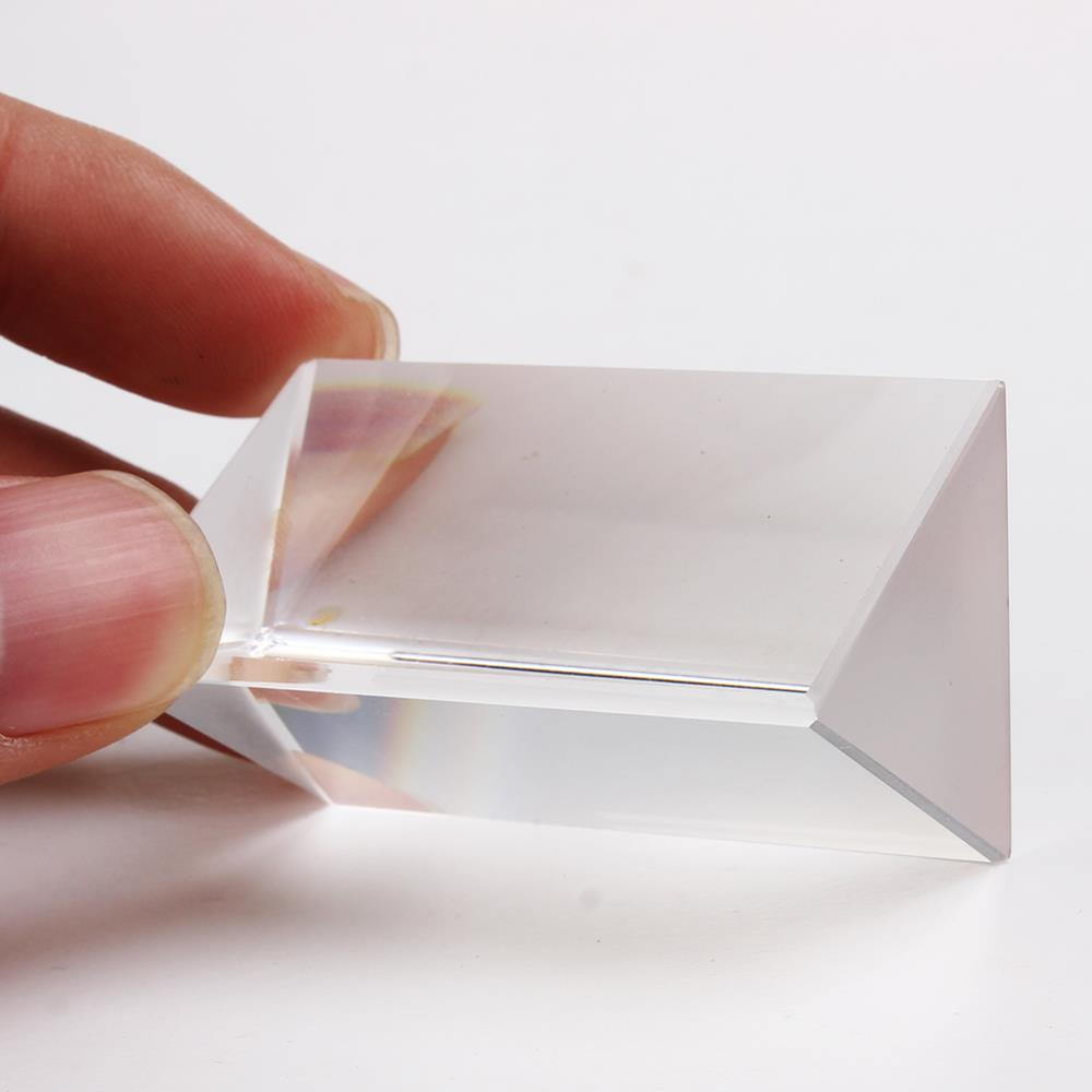 Physics Teaching Precision Optical Glass Prism Triangle Prismatic Free Shipping(China (Mainland))