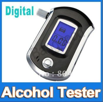 Portable Pocket Professional Police Digital Breath Alcohol Tester Breathalyzer Analyzer LCD Display Meter