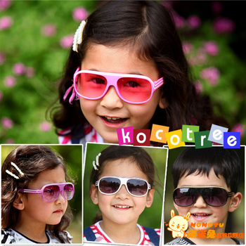UV400 Fashion children sunglasses baby fashion stripe glasses Eyewear, kids love most, with case and cleaning cloth