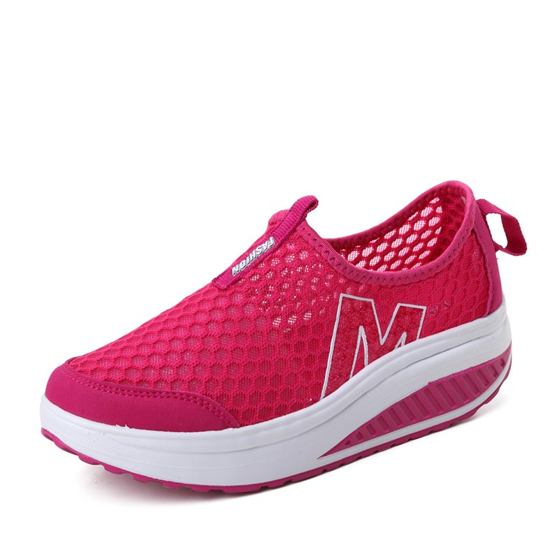 Height Increasing 2016 Summer Shoes Women's Casual Shoes Sport Fashion Walking Shoes for Women Swing Wedges Shoes Breathable(China (Mainland))