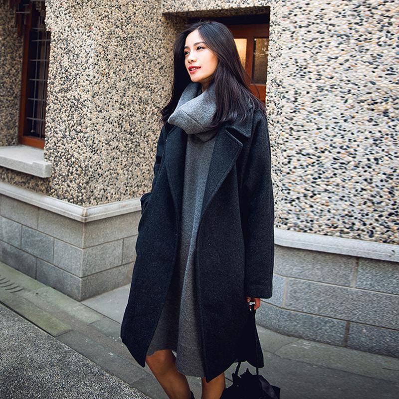 Long Wool Coat Womens Photo Album - Reikian