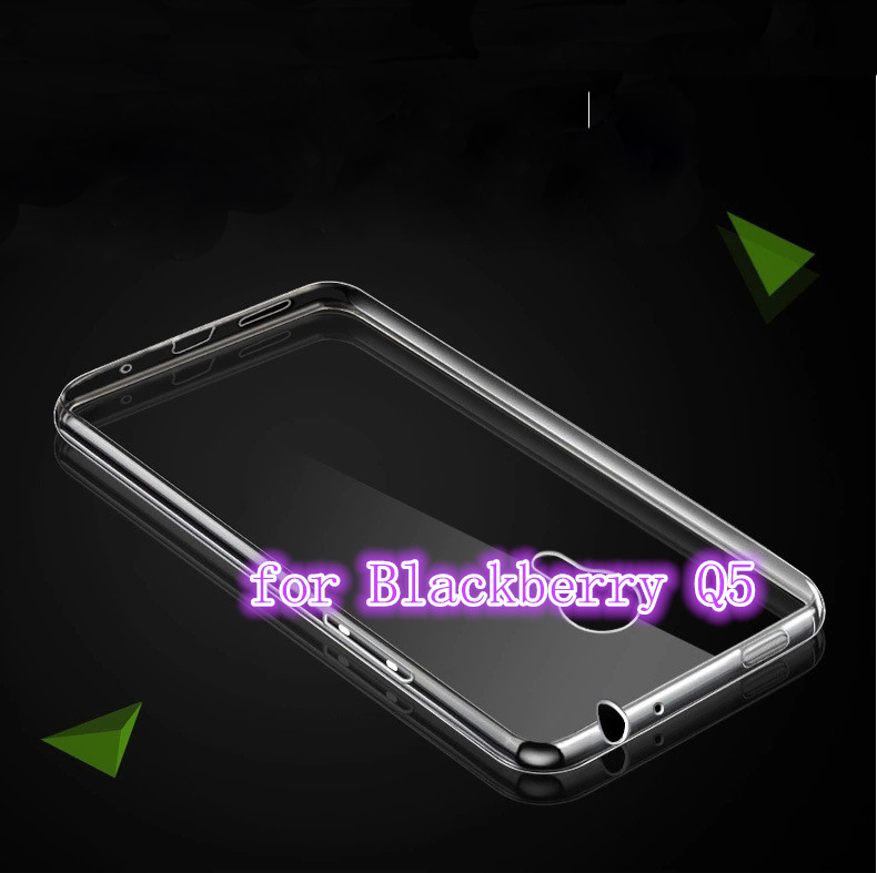 High Quality Transparent Hard Case Plastic Crystal Clear Luxury Protective Cover For Blackberry Q5(China (Mainland))