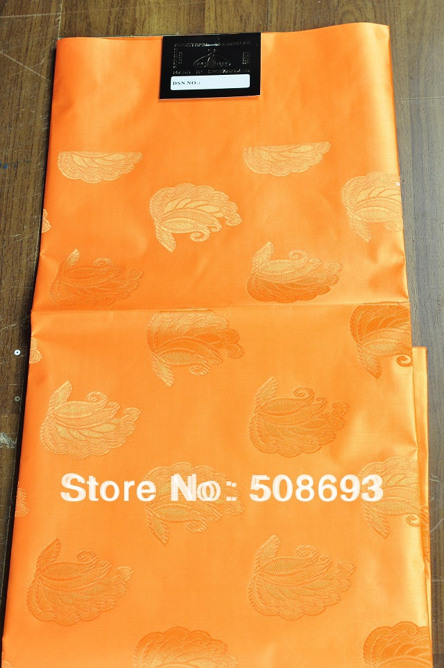 Free Shipping african headtie@@orange color original headtie~~5pcs/pack,regular headtie for Nigerian wedding and party(China (Mainland))