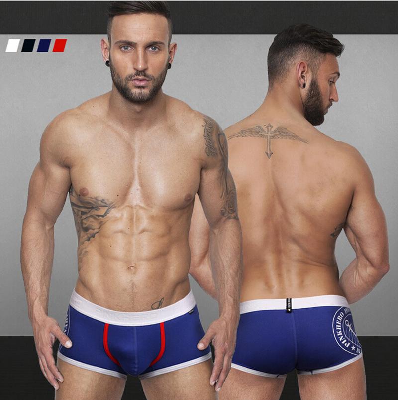 Cueca boxer men 2015 New Men s Boxer Cotton Solid Mens Boxer Shorts Mens Sexy Underwear