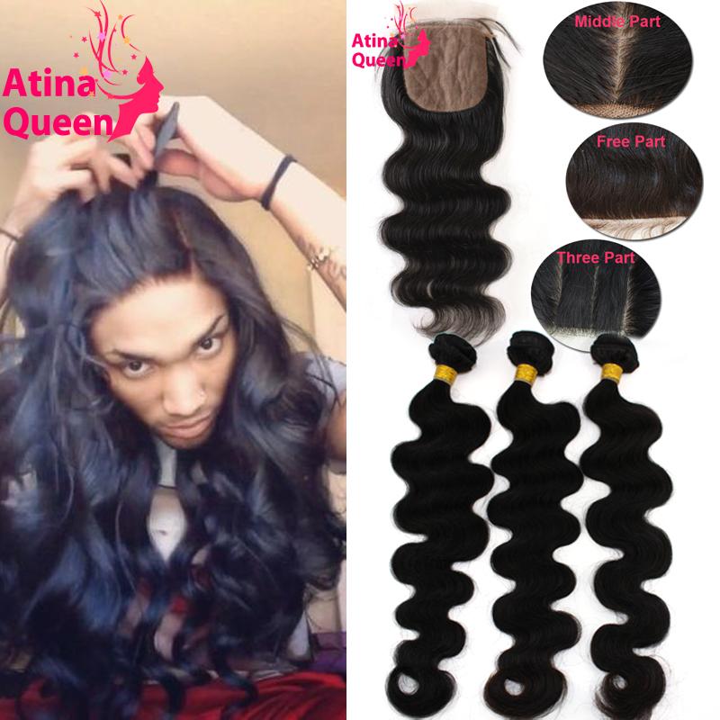 7A Silk Base Closure With Bundles Peruvian Virgin Hair Body Wave With Silk Top Closure 3 Human Hair Weave Bundles And Closure(China (Mainland))