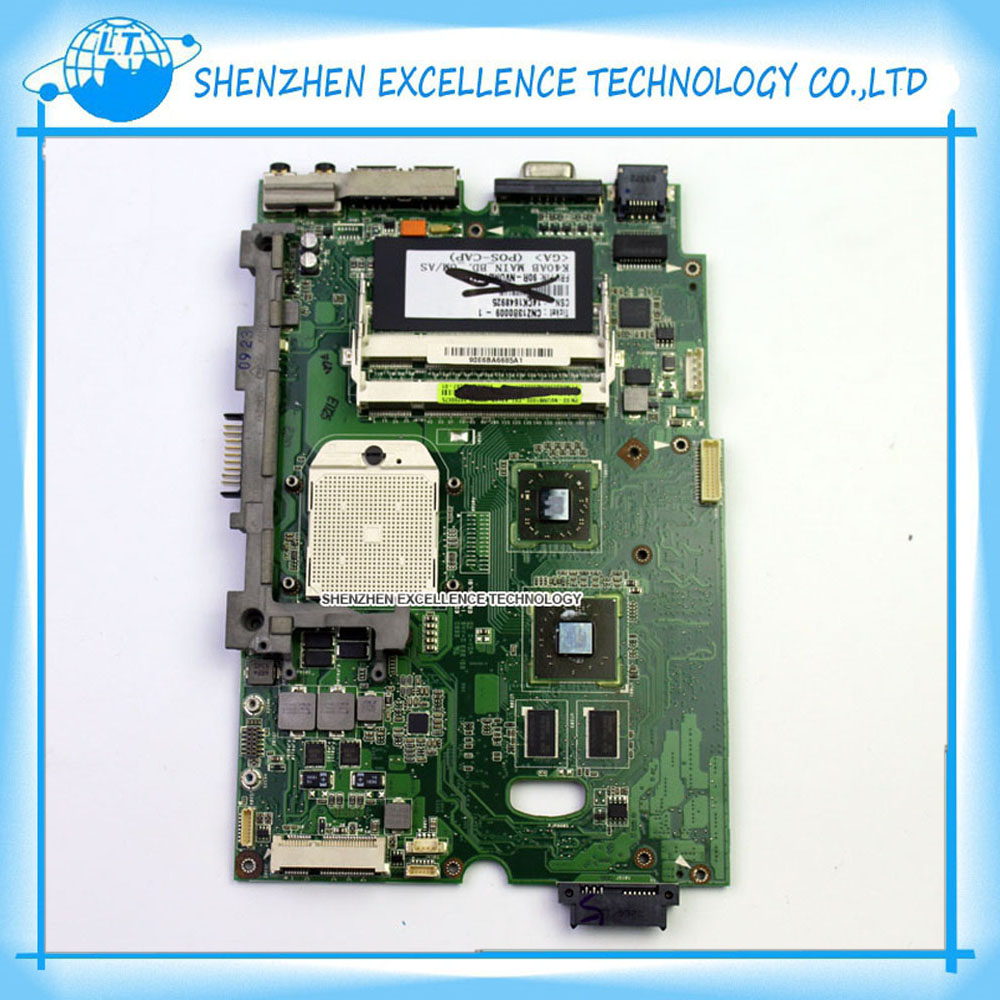 Фотография Hot sale K40AB rev1.3 / rev 2.1 laptop motherboard for Asus K50AB X5DAB K40AF K40AD K50AF K50AD X8AAF X5DAF DDR2 Mainboard