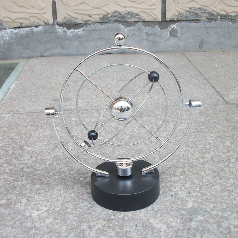 product Free shipping!2015 new arrivel vintage style home decor solar system model magnetism Rotary wing dynamic model Desktop articles