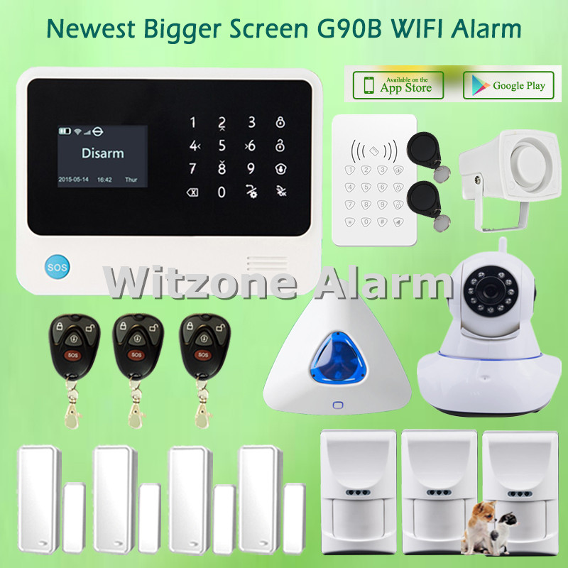 Pet Friendly Alarm System Security Home WIFI GSM Alarm Android IOS Smartphone APP Control, Free Shipping(China (Mainland))