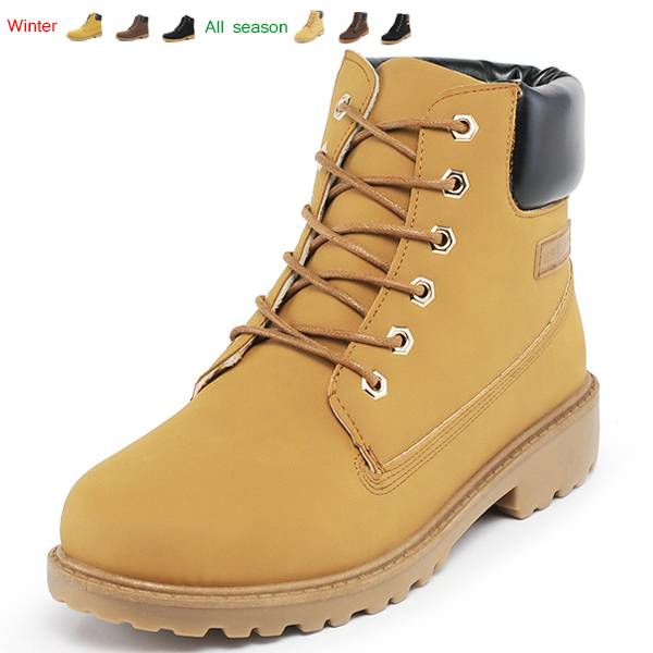 Suede leather man boot Winter men boots ankle shoes warm snow velvet fur work flats martin cowboy motorcycle male shoe lace-up(China (Mainland))