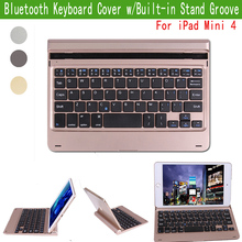 Slim Portable Laptop Style Wireless Bluetooth Keyboard For Apple iPad Mini 4 7.9″ PC W/ Magnetically Backlit Stand Case Cover