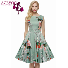 Buy Robe Femme vestido de festa Elegant Floral Dress Retro Vintage 1950s 60s Rockabilly Floral Summer Dresses Elegant vestido de festa for $15.35 in AliExpress store