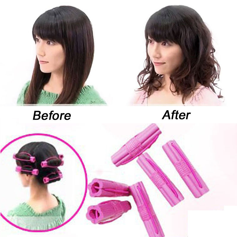 6pcs/pack Velcro Hair Rollers Curling Flexi Rods Rizador Pelo Night Set Hair Curler Spiral Cachos Modelador DIY Styling Tools(China (Mainland))