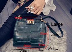 Classy Crocodile Printing PU Leather Hand Bag Women Newest Stylish Small Crossbody Bag Ladies Black Dark Green Shoulder Bag