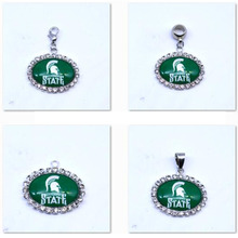 Buy Pendant Charms Rhinestone NCAA Michigan State Spartans Charms Basketball Sports Dangle Charms Women Men Diy Jewelry Fashion for $8.46 in AliExpress store