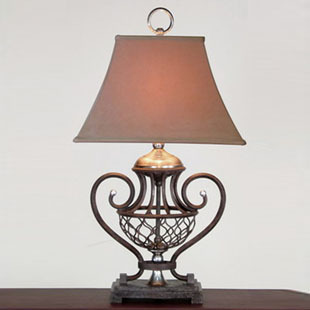 American Wrought Iron Living Room Lamps Rustic Antique