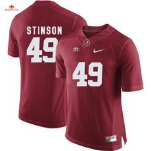 Nike 2017 Alabama Eddie Lacy 42 Can Customized Any Name Any Logo Limited Ice Hockey Jersey Ed Stinson 49(China)