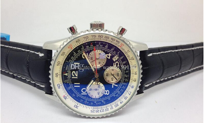 Wholesale - Free shipping 2015 Top sell AAA watch Men's quartz chronograph movement dive Watches 055(China (Mainland))