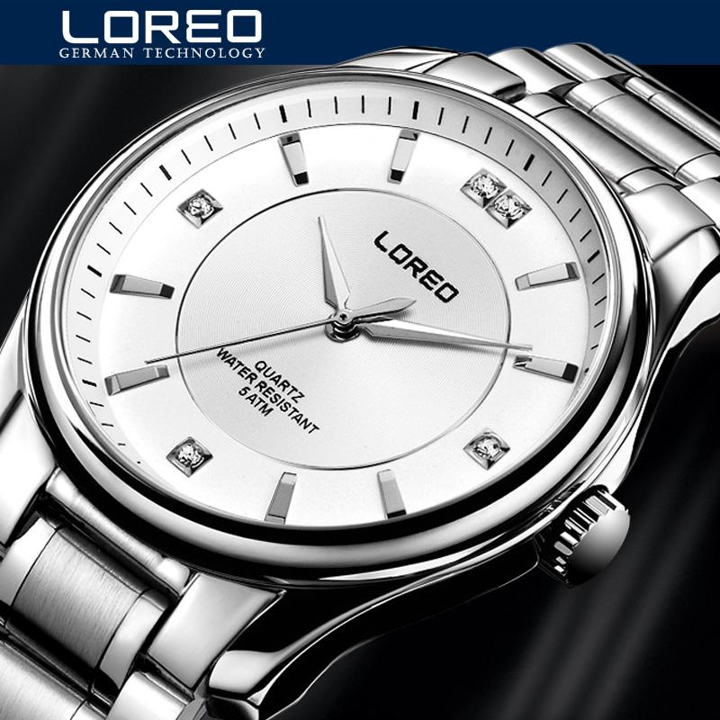 Original Big Dial LOREO Men Watch Luxury Famous Brand Watches Waterproof Men Clock Stainless Steel Wristwatch For Men AB2052(China (Mainland))