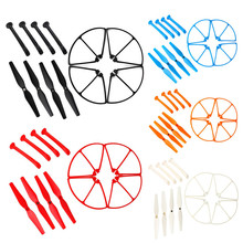 Syma X8C X8W X8G X8 Spare Parts Set 4xLanding Gear + 4xBlade Propeller + 4xProtect Ring for RC Quadcopter Drone(China (Mainland))