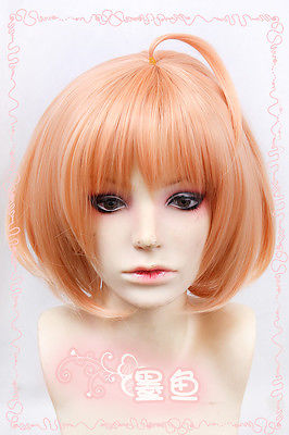 Hot heat resistant Kanekalon Party hair&gt;&gt;Beyond the Boundary/Kyoukai no Kanata Kuriyama Mirai Orange mix Cosplay Wig<br><br>Aliexpress