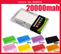 20000mAh power bank Portable Power charger external Backup Battery For Noki ,Micro USB,Samsun,Mini USB,iPd,iPhon