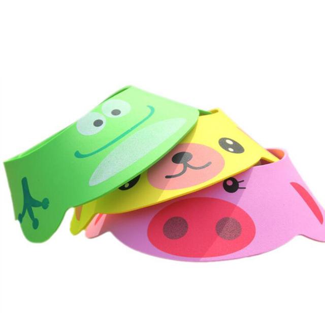 3 цветов детский шампунь для душа мягкая детские шапочка для душа милые регулируемая ...