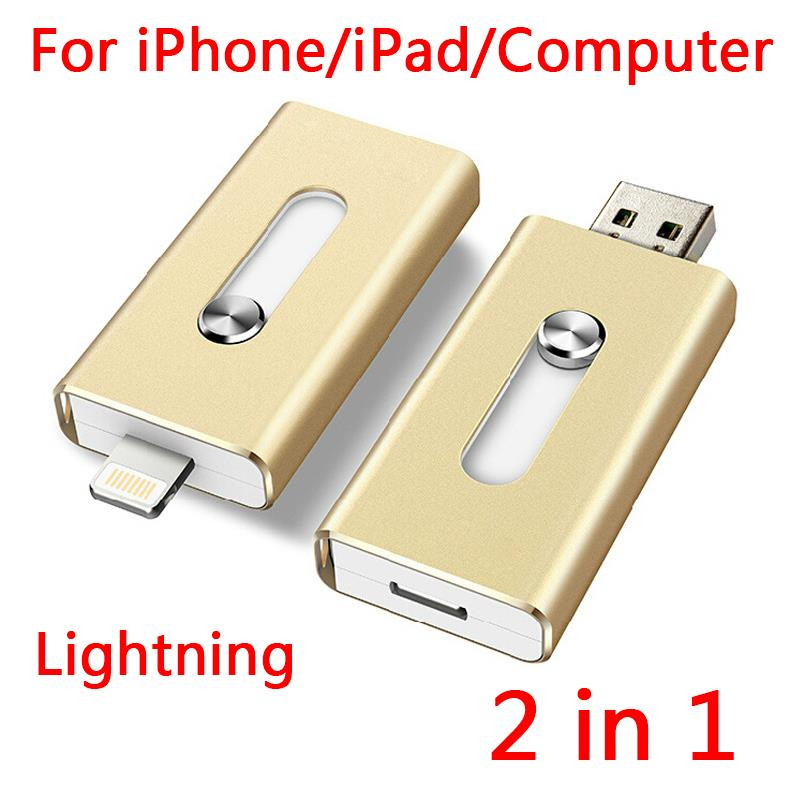 100% Real Capacity 16GB 32GB 64GB Lightning USB Flash Drives OTG For IPhone, Computer Gift USB 2.0 Pendrive Memory Stick 1TB 2TB(China (Mainland))