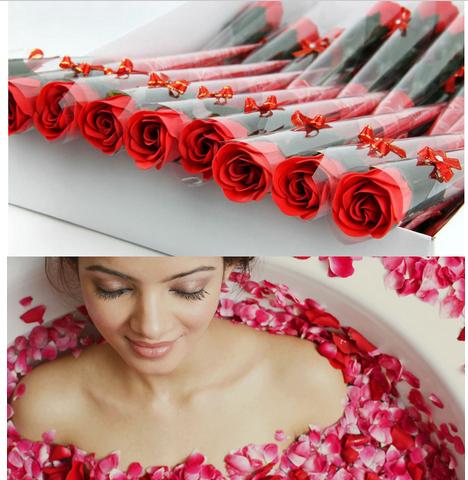 Здесь продается  Rose Soap Flower for Wedding Favors Gift/Christmas Decoration/girlfriend birthday/Valentine Day present 30pcs/lot free shipping  Красота и здоровье