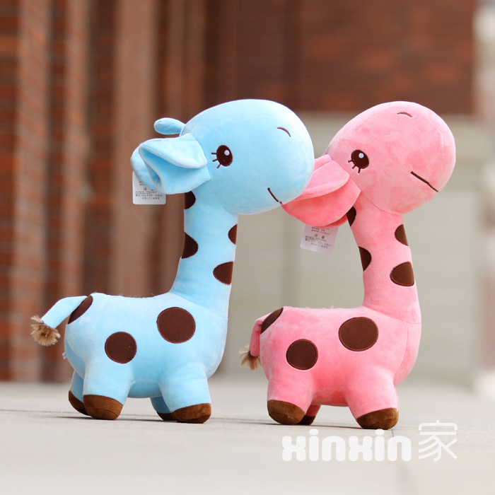 2015 Hot 17CM giraffe Stuffed Toy Super Toy sika deer Animal/Plush toy doll Girl Kid Kawaii Cute Great for gift Free shipping(China (Mainland))