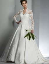 Lace Vintage Ball Gown Princess Satin Long Sleeve Wedding Dresses Bridal Bride Wedding Gowns Muslim vestido de noiva(China (Mainland))