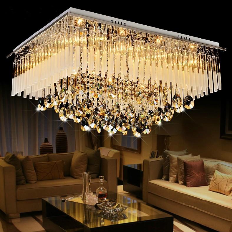 Livraison gratuite moderne salon lustre en cristal - Lustre de salon moderne ...