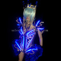 Led Luminous Sexy Women Ballroom Costume LED DJ Nightclub Party Evening Crystal Dress Clothes For Dancing