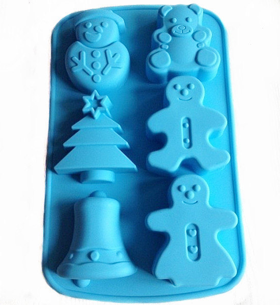 Free Shipping silicone Christmas Tree Cake Mold Flexible Silicone Mould Candle Candy Resin mold soap making baking tools(China (Mainland))