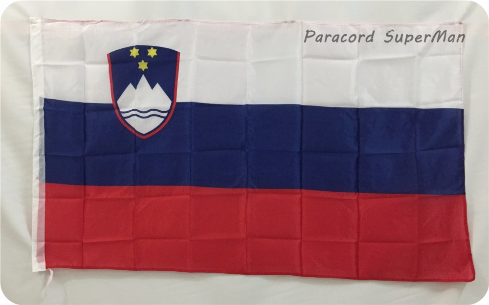 Slovenia Flag 90*150cm Hanging Slovenia Banner 3*5 ft Free Shipping Office/Activity/parade/Festival/World Cup/Home Decoration(China (Mainland))
