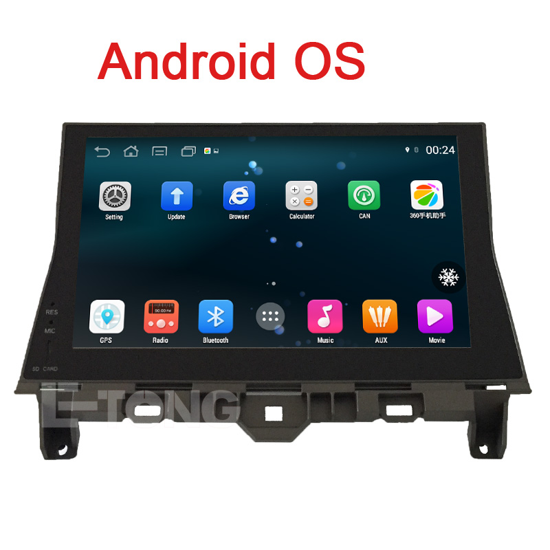 """Android For Honda Accord 2008 2009 2010 2011 2012 2013 2014 Car Radio Car Stereo With 10.1"""" Full Touch Screen Quad Core Free Map(China (Mainland))"""