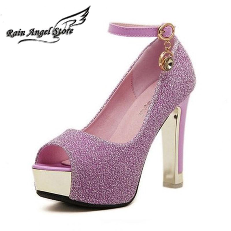 Open Toe Buckle Women Pumps Sandals 2015 Spring New Platform High Heels Shoes Silver Wedding - Rain Angel store
