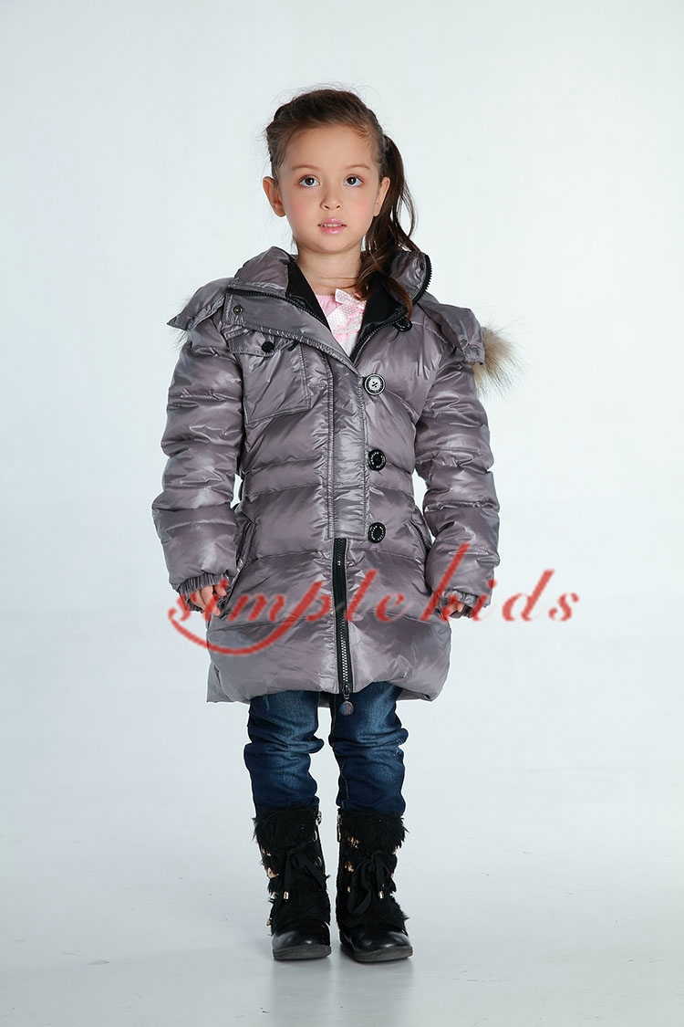 2013 childrens fashion baby clothing down coat medium-long male Women winter large fur collar outerwear<br><br>Aliexpress