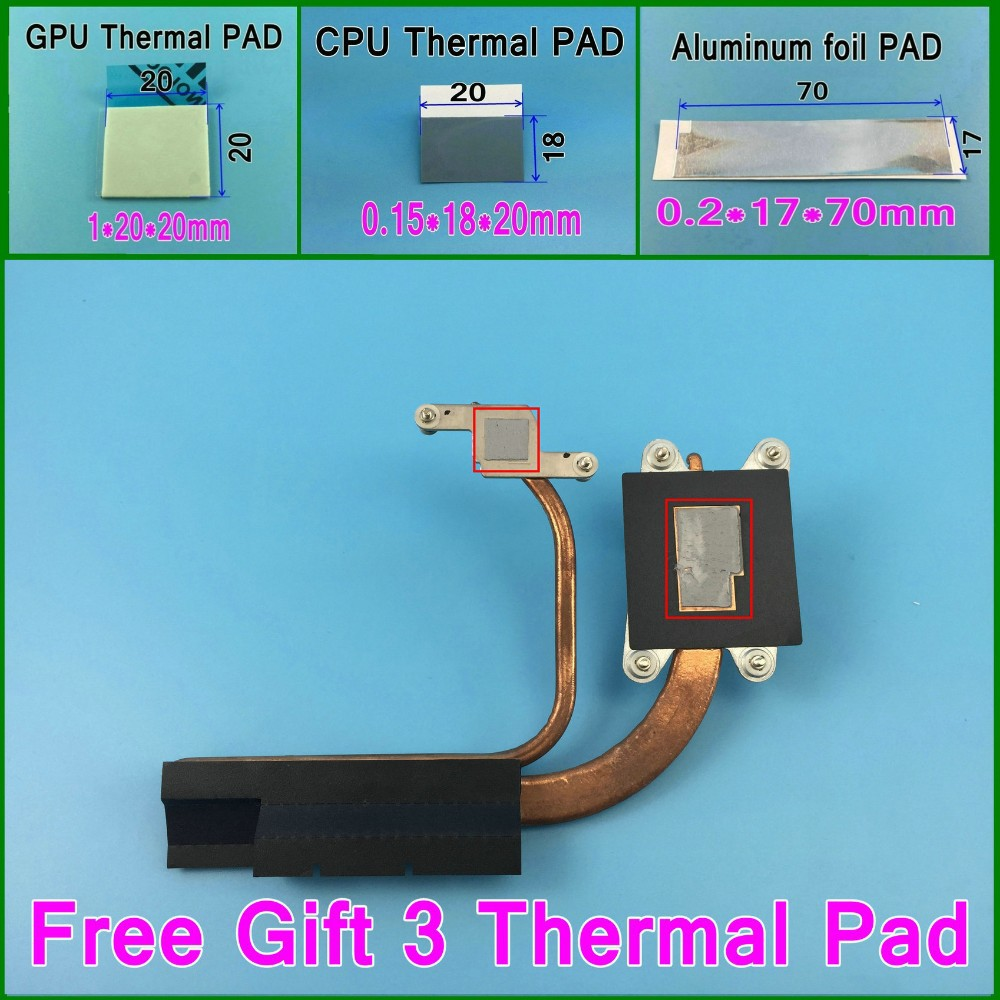 Gift 3 Thermal pads 90%New and original FORCECON BA62-00560A Heatsink  For Samsung NP400B4B NP400B4C Cooler Thermal Module<br><br>Aliexpress