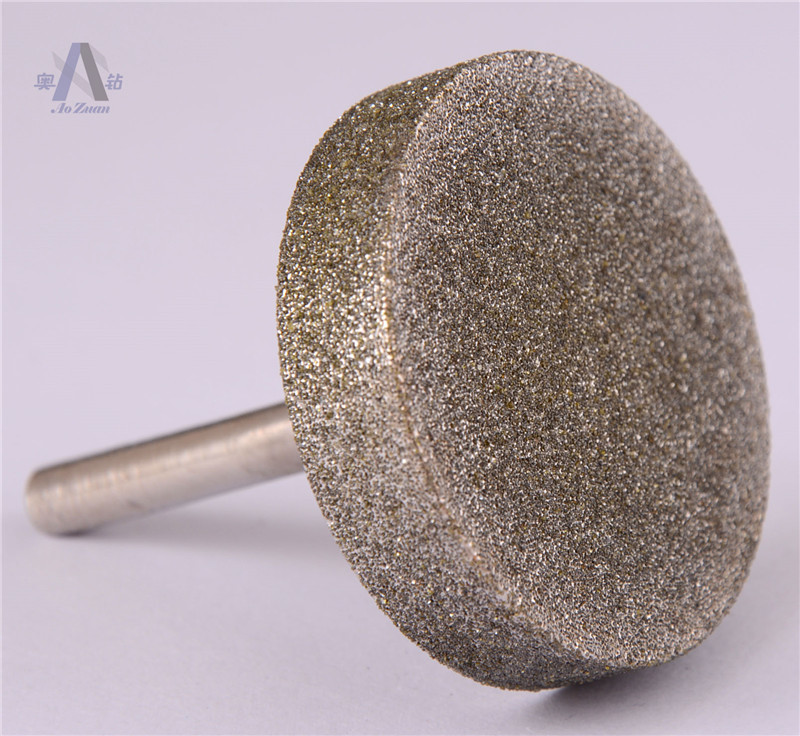 90mm 1 PC Grit 80  Diamond Coated Cylinder Head Cylindrical Mounted Points Grinding Bit Diamond Rotary Bur<br><br>Aliexpress