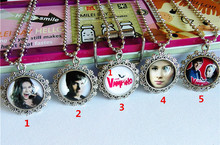 24pcs/lot CHICA VAMPIRO Necklaces for Girls wonmen Glass Necklaces Handcuffs Necklaces Cabochon The time gem  Necklaces pendant(China (Mainland))