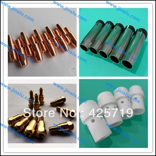 free shipping 10 sets of 36KD BINZEL consumable, NOZZLE , contact tip holder, 36KD gas diffuse, 36KD tip M8*30 1.0-1.2mm,(China (Mainland))