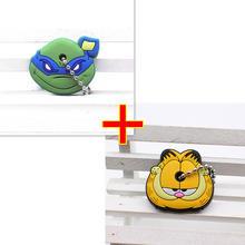 2 PCS keychain Dos Desenhos Animados Anime Bonito mickey ponto Urso Silicone tampa tampa da chave Olá Kitty coruja porte clef minne chave cadeia de proteger(China)