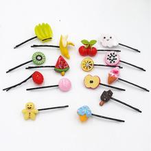 Cute Fruits Hair Clips Girls Fruit Pineapple Cherry Hairpins Creativity Hair Accessories for Women Baby Girls Headwear