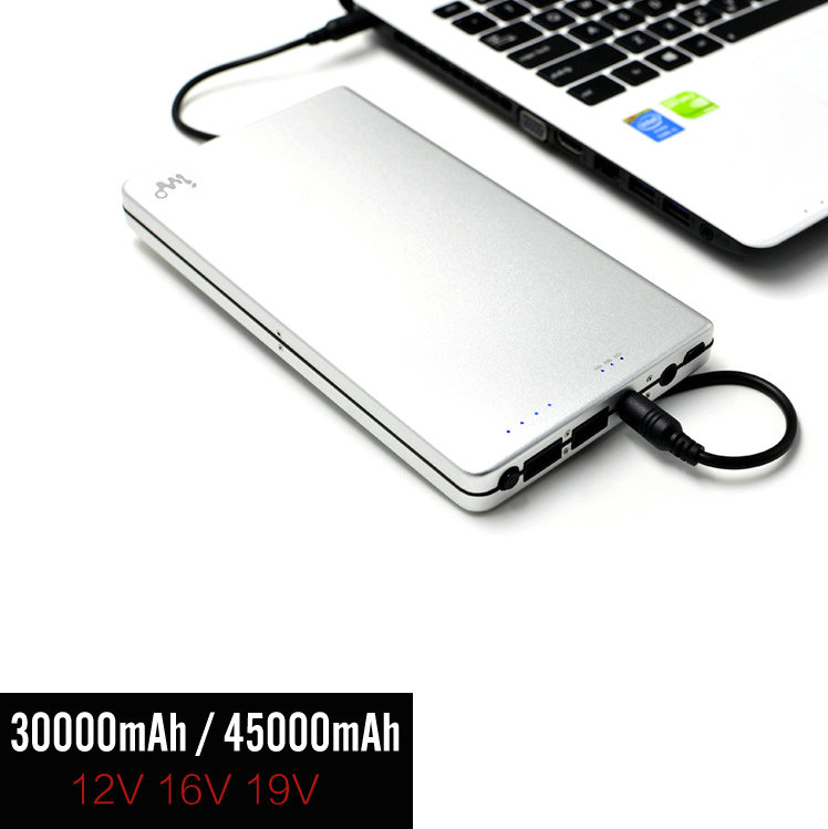 Universal Large 30000/45000mAh Power Bank for Microsoft Surface Book 1 2 3 Pro 3 4 External Battery DC USB Output for Smartphone(China (Mainland))