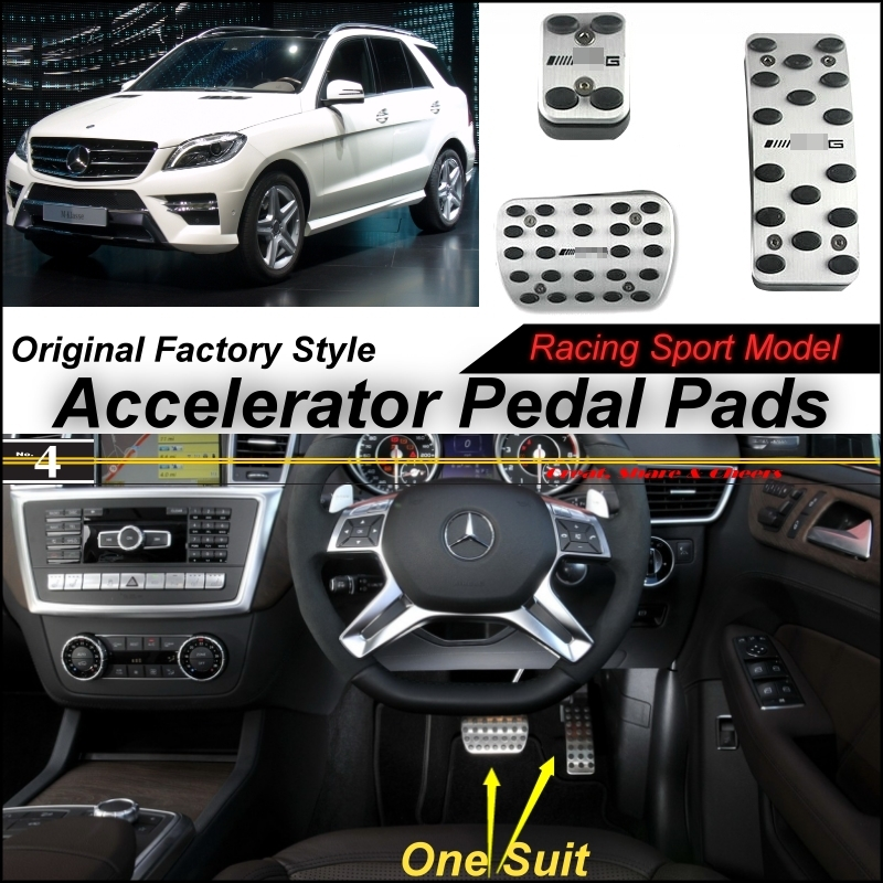 Car Accelerator Pedal Pad / Cover Factory Sport Racing Design Mercedes Benz MB ML M Class GLE W166 AT Foot Throttle