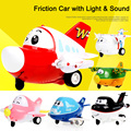2016 Newest Toy Cartoon car Friction Car with sound and light for kids toys include battery