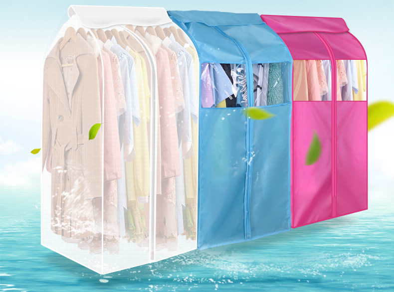 Oxford Cloth Hanging Protector Wardrobe Storage Bag Garment Suit Coat Dust Cover(China (Mainland))
