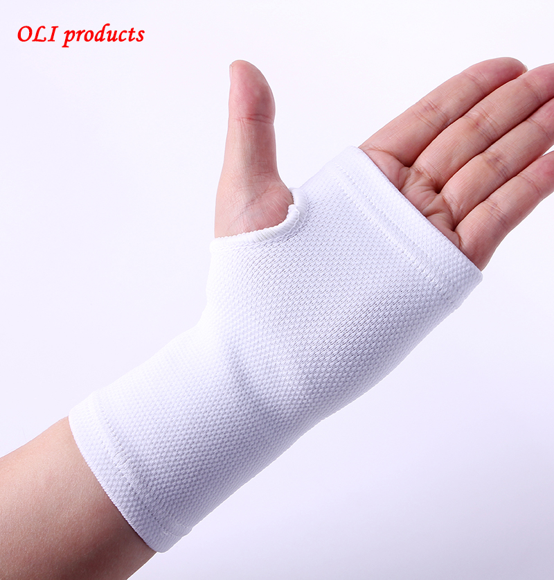 High quality white basketball volleyball hand wrist palm support braces pads free shipping #ST6803